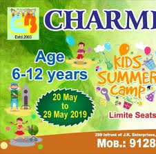 Charming blossoms play school
